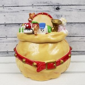 Hallmark | Ceramic Santa Bag Cookie Candy Jar